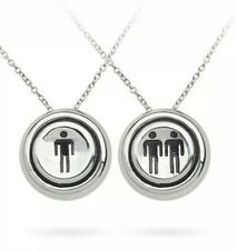 Retro Arcade Necklace Set - One / Two Player Start (Stainless Steel) Han Cholo