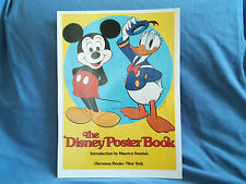 """The Disney Poster Book"" Mickey Mouse and Donald Duck Yellow Poster 1977"