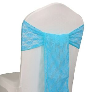 """LACE Chair Sashes Bows Ribbon 6""""X108"""" Event Wedding Party Decoration - FREE SHIP"""