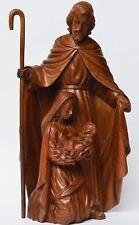 Skulptur Gruppe Holz Linde geschnitzt Heilige Familie Josef Maria Jesus 35x18 cm