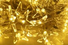 Lichterkette 48 LED Sternenkette Warmweiß Innen und Außen Strom Kabel 230V