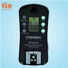 1x Yongnuo Wireless Flash Trigger RF-605 LCD for Nikon D5200 D3100 D3000 D90 D80
