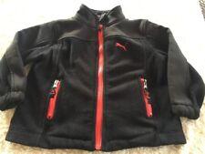 Puma Boys Black Red Thick Fleece Winter Jacket Pockets 2T