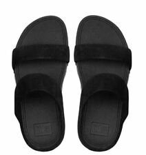 FitFlop Women's Leather Lulu Slide Sandals - Size 8 - Black - New With Tags