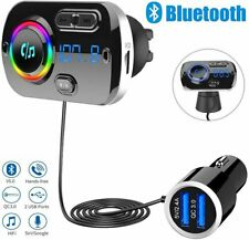 Bluetooth 5.0 Handsfree Car Kit FM Transmitter MP3 Player USB Charger For iPhone