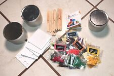 Candle Making Grab Bag: Candle Tins With Lids, Wax Dyes, Wick Holders & Stickers