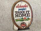 Schaefer Beer 1950's Cardboard Easelback Cardboard Advertising Sign