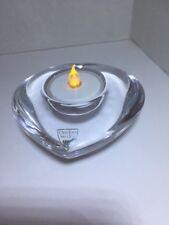 Orrefors Crystal Votive Candle Tealight Holder Valentine Heart Shape