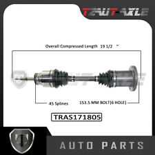 CV Axle Shaft Assembly driver & passenger front both side for Ford & Lincoln