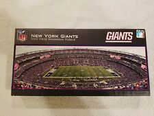 "2014 New York Giants 1000 Piece Panoramic Puzzle NFL.com Made in USA 39""×13"" NEW"