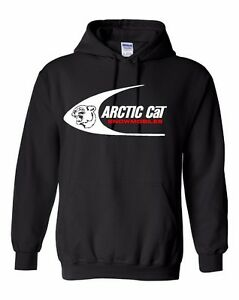 ARCTIC CAT SWOOSH Vintage Snowmobile Hoodie Sweatshirt Sizes to 5XL