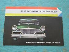 0802s   1956 Studebaker sales catalog brochure showing the full line