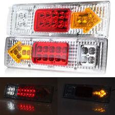 2X CAR LED REAR TAIL LIGHTS CAMION RIMORCHIO AUTOCARRO RIBALTABILE chassis 12V