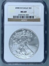2008-W Silver American Eagle $1 * NGC MS69 * One Ounce * NO RESERVE