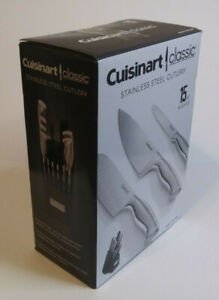Cuisinart Classic, 15-Piece Knife Set, Stainless Steel Cutlery, Silver