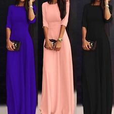 Womens Chiffon 3/4 Sleeve Evening Formal Party Ball Gown Prom Bridesmaid Dress