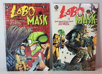 Lobo Mask Lot Book 1 AND 2 DC / Dark Horse Comics TPB Softcover