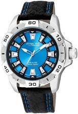 Q&Q by Citizen Da64j312y Attractive Analog Blue Dial Men's Watch Great Gift