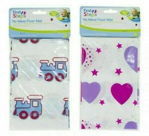 Both Trains and Hearts Baby Feeding Mess Mats Splash Food Floor Cover Protector