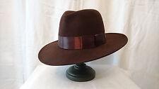 Chapeau style Borsalino -- Marron -- Année 1950 -- MOTSCH et Fils Paris -- T.57