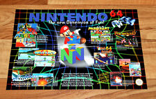 N64 Nintendo 64 Ad Flyer Mini Poster Star Fox Super Mario Kart Pilotwings DK GB