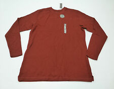 Covington Mens Size Large (42-44) Rust Red Long Sleeve Flatback Crew Shirt New