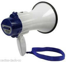 MEGAPHONE, BUILT-IN SIREN + RECORD FUNCTION VOL CONTROL, WITH UP TO 200M RANGE
