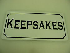 KEEPSAKES Vintage Style Metal Tin Sign 4 Candy Shop General Store Bakery Donut
