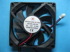 1 pcs Brushless DC Cooling Fan 12V 8015S 9 Blade 80x80x15mm 2pin Sleeve Bearing
