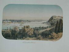 Koblenz Ehrenbreitstein Rhein Mosel Original Farblitho 1858