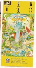Super Bowl 18 XVIII NFL Ticket Stub Raiders Redskins