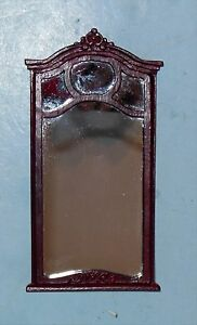 BESPAQ CONSOLE CARVED MIRROR VINTAGE  DOLLHOUSE FURNITURE MINIATURES