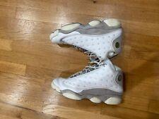"Mens Air Jordan 13 ""Neutral Grey"" White/Grey/Blue Retro sz 12 11 23 2005 Max Ye"
