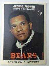 1968 SCANLENS  B GEORGE AMBRUM   #19 Bears.
