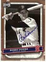 Bobby Doerr Signed Autographed Baseball Card 2005 UD Classics Red Sox GX19563