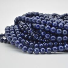 Natural Lapis Lazuli (more gold) Gemstone Round Beads 4mm 6mm 8mm 10mm 12mm