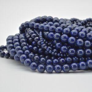 Natural Lapis Lazuli (more gold) Gemstone Round Beads 4mm 6mm 8mm 10mm 12mm
