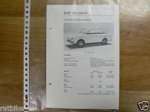 DA12-DAF  33 COACH 1970-1974 EINDE PRODUCTIE -INFO