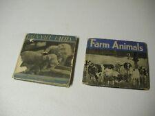 Barnyard Babies & Farm Animals Vintage Children's Books 1934 & 1936 Life On Farm