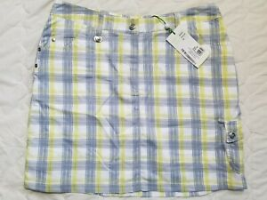 1 NWT XDS BY DAILY SPORTS WOMEN'S SKORT, SIZE: 12, COLOR: GRAY PLAID (J192)