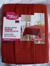 "Better Homes & Gardens Brick Red Tablecloth 60""x80"" Rectangle Machine Wash New"