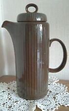 Purceck studio pottery coffee pot, brown greenish, 27cm