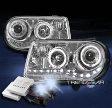 FOR 2005-2010 CHRYSLER 300C HALO LED DRL CHROME PROJECTOR HEADLIGHT+8K XENON HID