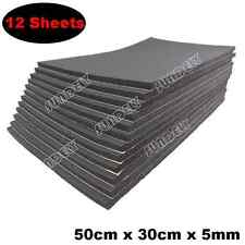 12 Sheets 5mm Car Sound Proofing Deadening Vehicle Insulation Closed Cell Foam