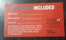 5 Breakfast vouchers Four Points by Sheraton Midtown Times Square New York