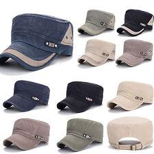 Mens Womens Army Plain Hat Cadet Military Snapback Baseball Sport Cap Adjustable