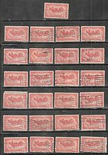 25 OVERLAND MAIL #1120 Used US 1958 Commemorative 4c Stamps