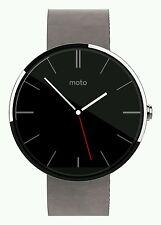 Motorola Moto 360 google smart watch grey leather lowest price ever ind warranty
