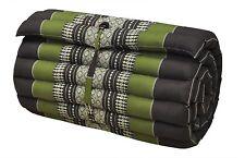 Kapok100% Thai Roll Up Mat Fold Out Yoga Mattress Cushion Day Bed,Sage/Brown