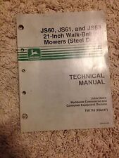 John Deere Technical Manual JS60, JS61, and JS63 21-Inch Walk Behind Mowers
